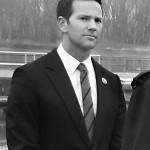 Aaron Schock participated in a ceremony recently at Peoria Lock and Dam on the Illinois River in Creve Coeur.                         Photo courtesy The Labor Paper