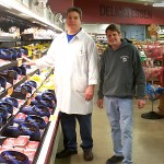 PHOTO BY BILL KNIGHT Haddad's Market expanded its produce, meats and deli when it rebuilt after a 2010 fire. Pictured are meat manager John Pecenka and grocery manager Mark Lowery.
