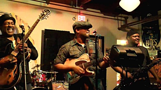 SUPPLIED PHOTO Dexter O'Neal & Funk Yard is one of several bands that draw crowds each time they perform at Rhythm Kitchen, says restaurant owner Shelley Lenzini.