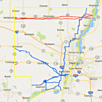 CREDIT: NATIONAL PIPELINE MAPPING SYSTEM, U.S. DEPARTMENT OF TRANSPORTATION Map shows existing gas transmission pipelines and hazardous liquid pipelines in the Peoria area. The red lines running from Chillicothe to Williamsfield carry hazardous liquid. The blue three lines converging on downtown Peoria and Bartonville from Chillicothe, Glasford and  Elmwood are gas transmission pipelines.