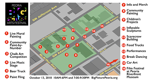 Big Picture Arts Festival Map