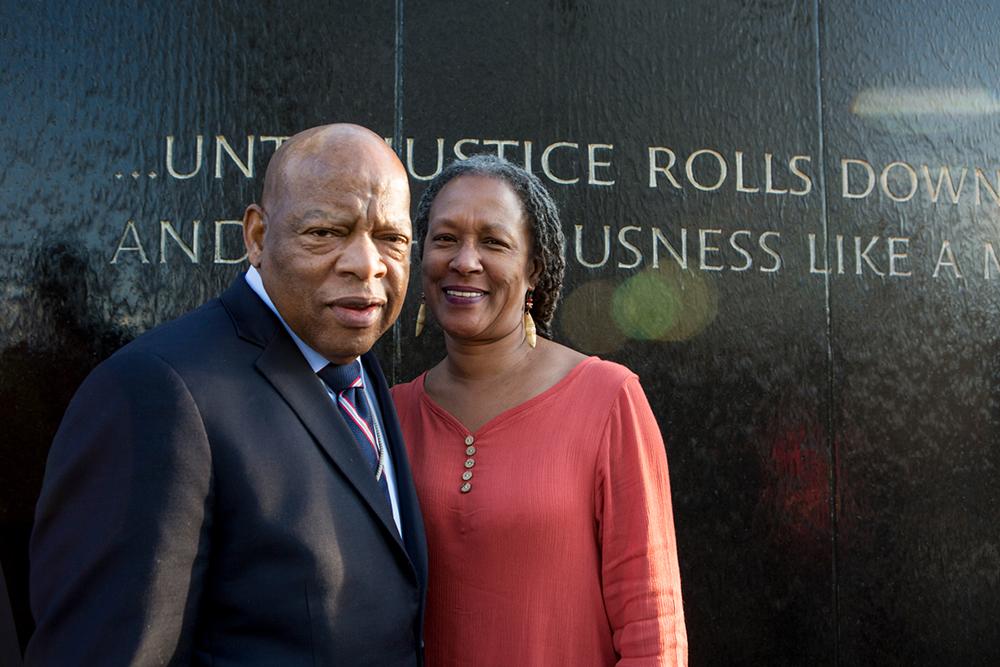 John Lewis and Lecia Brooks