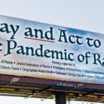 Pandemic of Racism billboard
