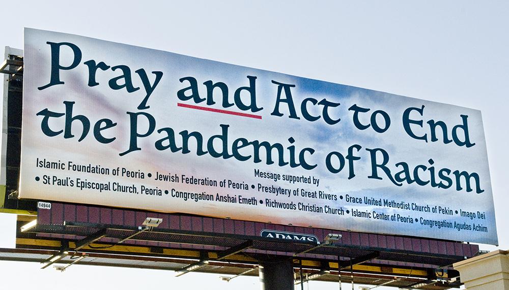 Pandemic of Racism billboard