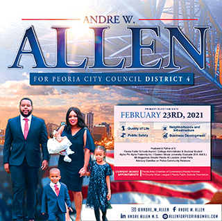 Allen for Council ad